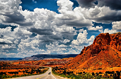 The road to Georgia O'Keefe land - Ghost Ranch, New Mexico